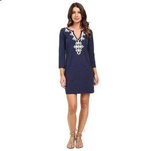 Lilly Pulitzer Marina Tunic Dress Navy Blue XL